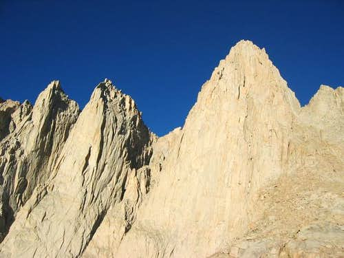Mt. Whitney\'s dramatic E face...