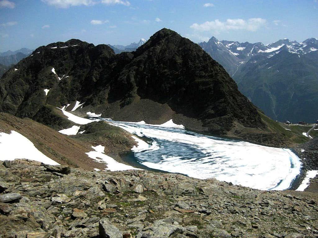 Roßkirpl and Rotkogel, with the Schwarzsee below
