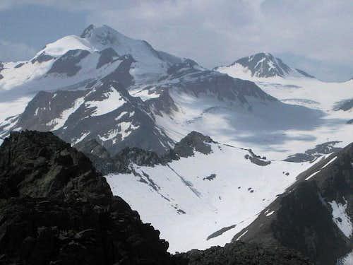 Wildspitze (3768m) and Hinterer Brochkogel (3635m) from Schwarzkogel