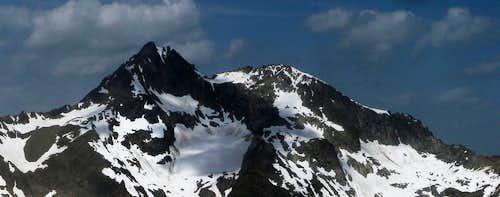 Puitkogel (3343m) from Schwarzkogel (3016m)