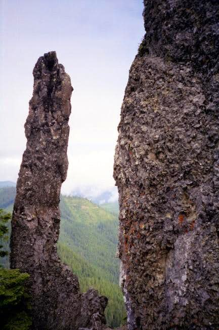 Rock spire on one of the...