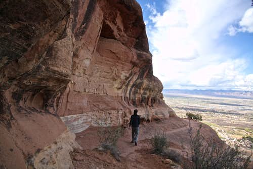 Hiking Liberty Cap trail