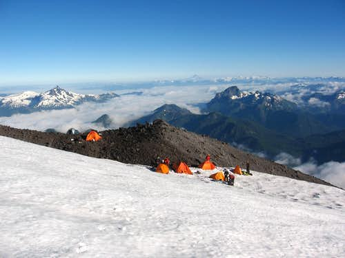 Camp at chilean route