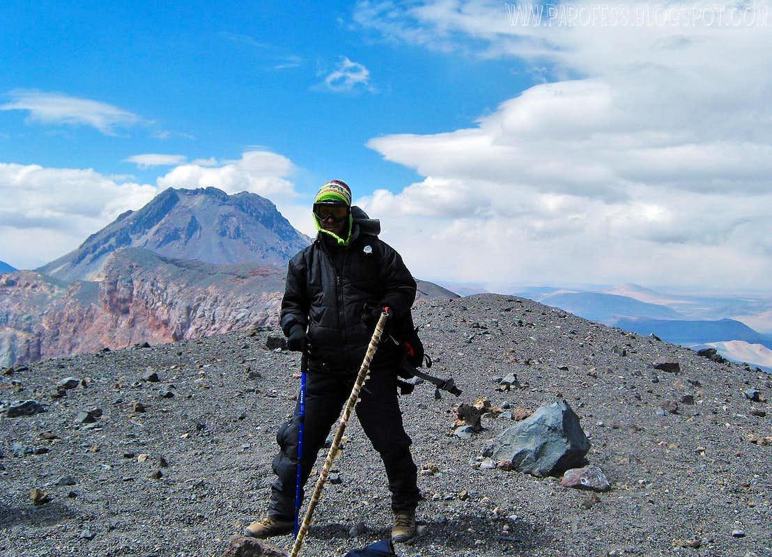 Lascar volcano summit. 5.592m