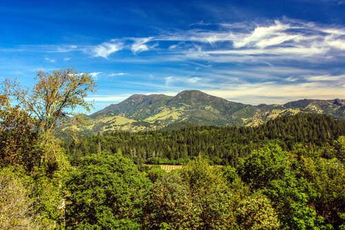 Mount St. Helena above Napa Valley