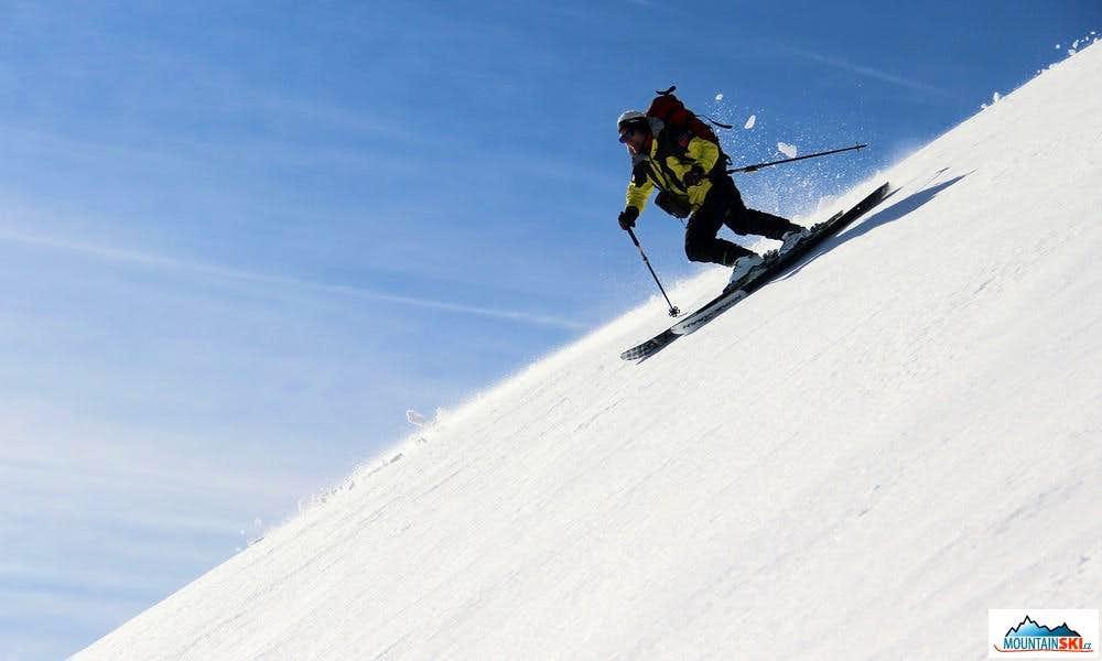 Skiing from Titov vrv