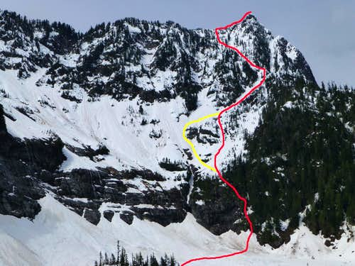 Hall Peak climbing route