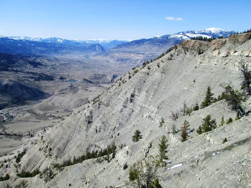 The northwest face of Mount Everts, seen from near the top