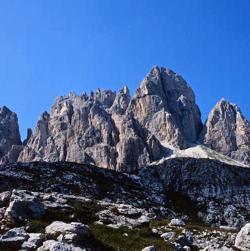 view from rifugio berti