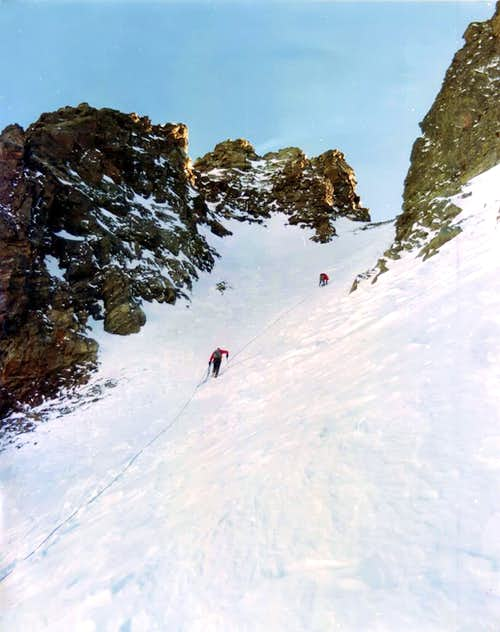 Becchi di Fana First Winter through North Couloir, 1974