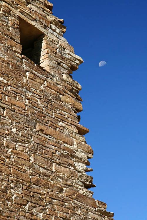 Chaco Ruins and the Moon