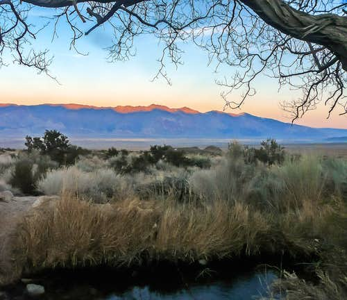Last light on the Inyo Mountains