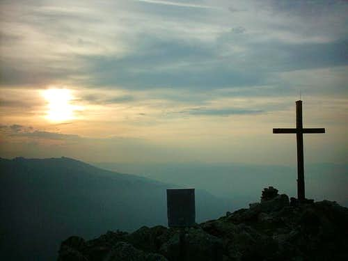 Sunrise on the Salzkofel 2498m.
