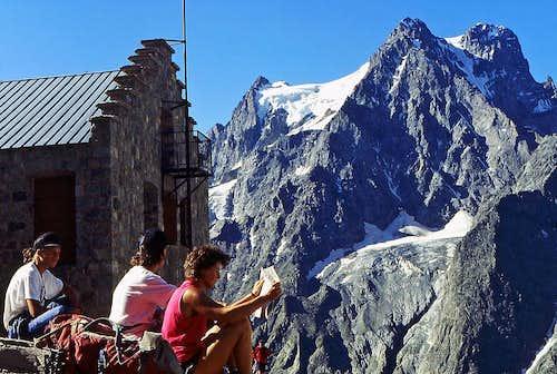 Mont Pelvoux from Refuge du Glacier Blanc