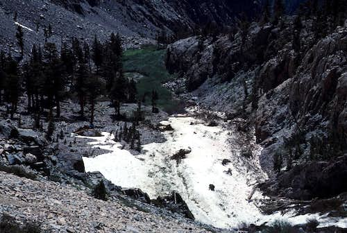 Avalanche Debris Near Onion Valley