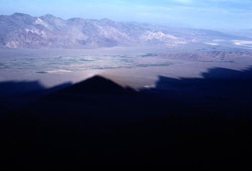 Mountain Shadows in Owens Valley