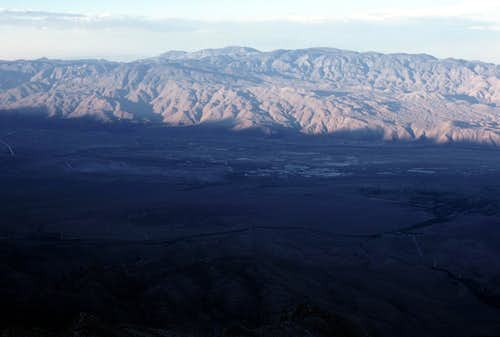 Owens Valley and Inyo Mountains from Kearsarge Peak