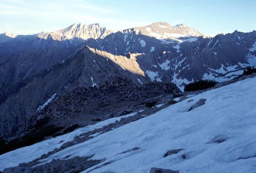 Snow on East Slope of Kearsarge Peak