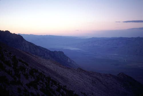 North Owens Valley at Dusk from Kearsarge Peak