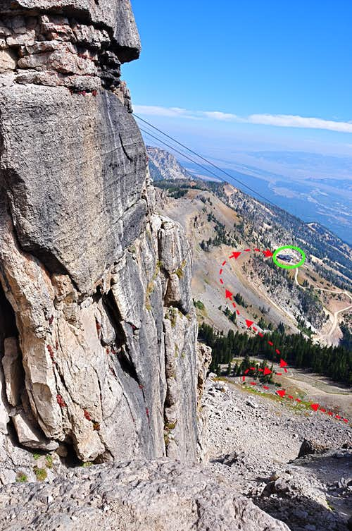Cirque Trail seen from Corbet's Rock