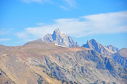 Grand Teton seen from the summit of Rendezvous Mountain
