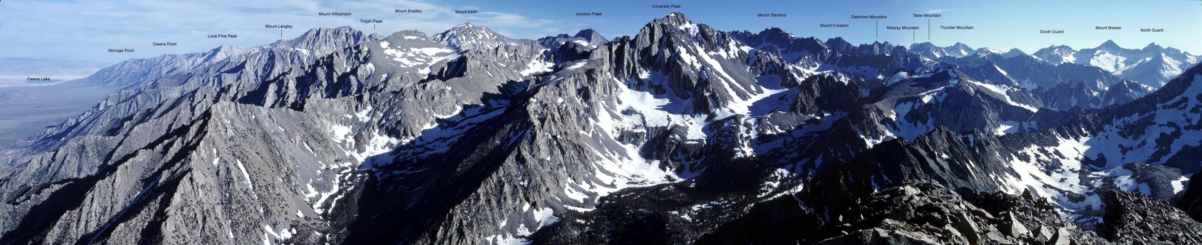 Labeled Sierra Panoramas