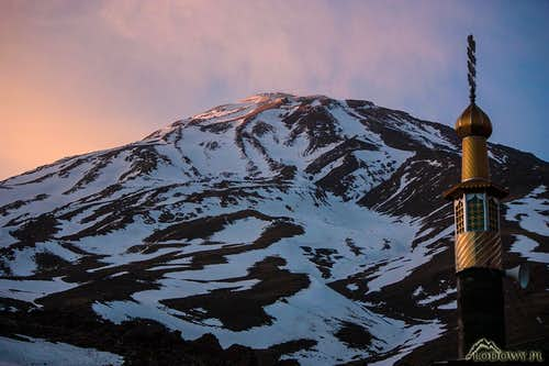 Damavand at dusk