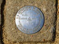 Mount Magazine summit marker