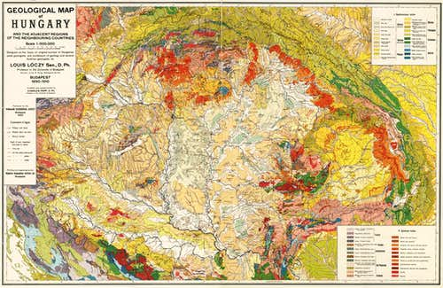 Geological map of the Carpathians