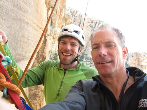 Jef and I at belay