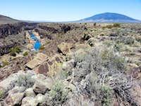 Ute Mountain and the Rio Grande River