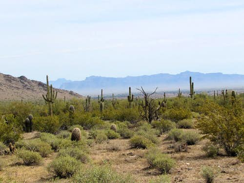 Superstition Ridgeline and Four Peaks