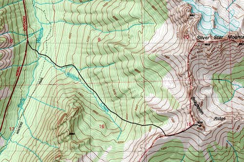 Big Snagtooth Topo Map