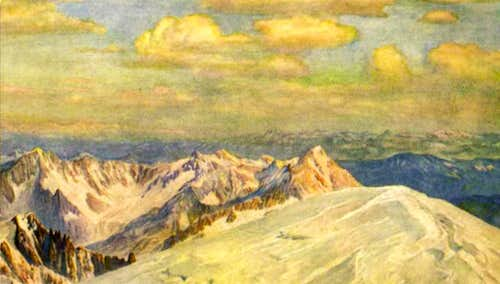 Summit of Mont Blanc by Coppier, 1924.