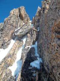 The gully on Willow Tooth