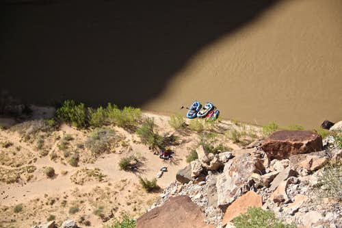Rafts on San Juan River