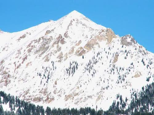 Boulder Peak from the west in...