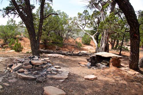 Sheiks Canyon campsite