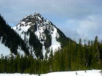 Looking up to Lane Peak