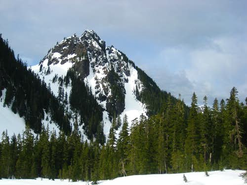 Lane Peak and Plummer Peak in the Tatoosh April 2013