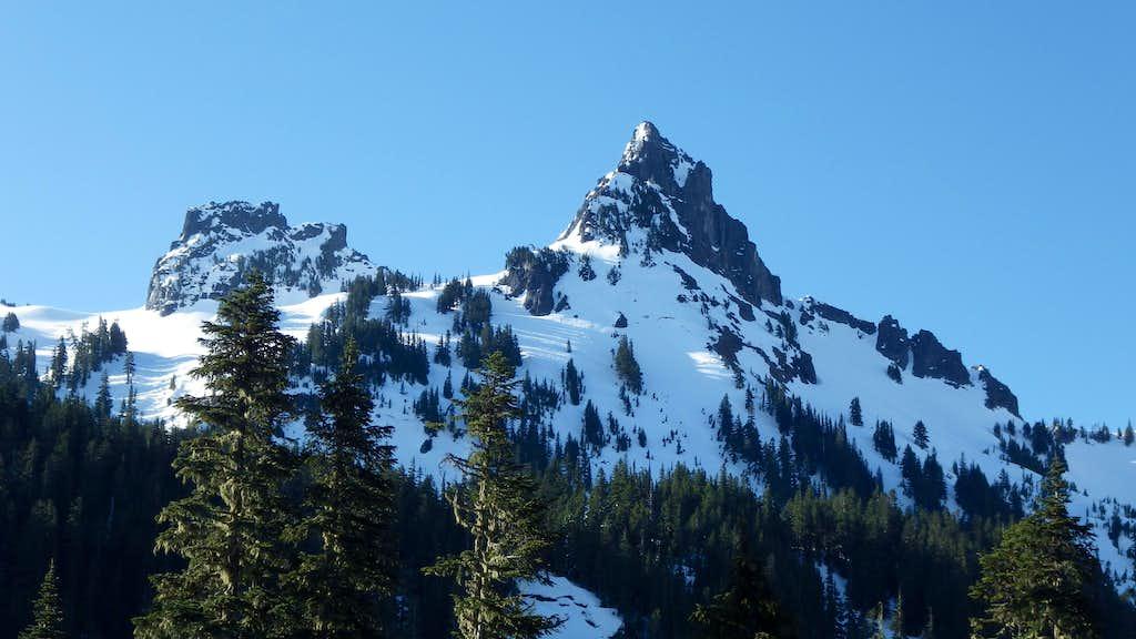 Pinnacle and Castle Peaks