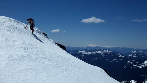 Traversing the final ridge