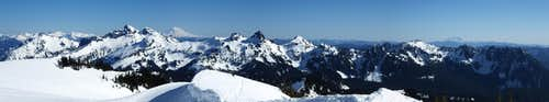 Tatoosh Range panorama from the Nisqually glacier
