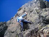 Me leading up the 5.6 climb