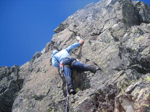 Me leading up the 5.6 climb
