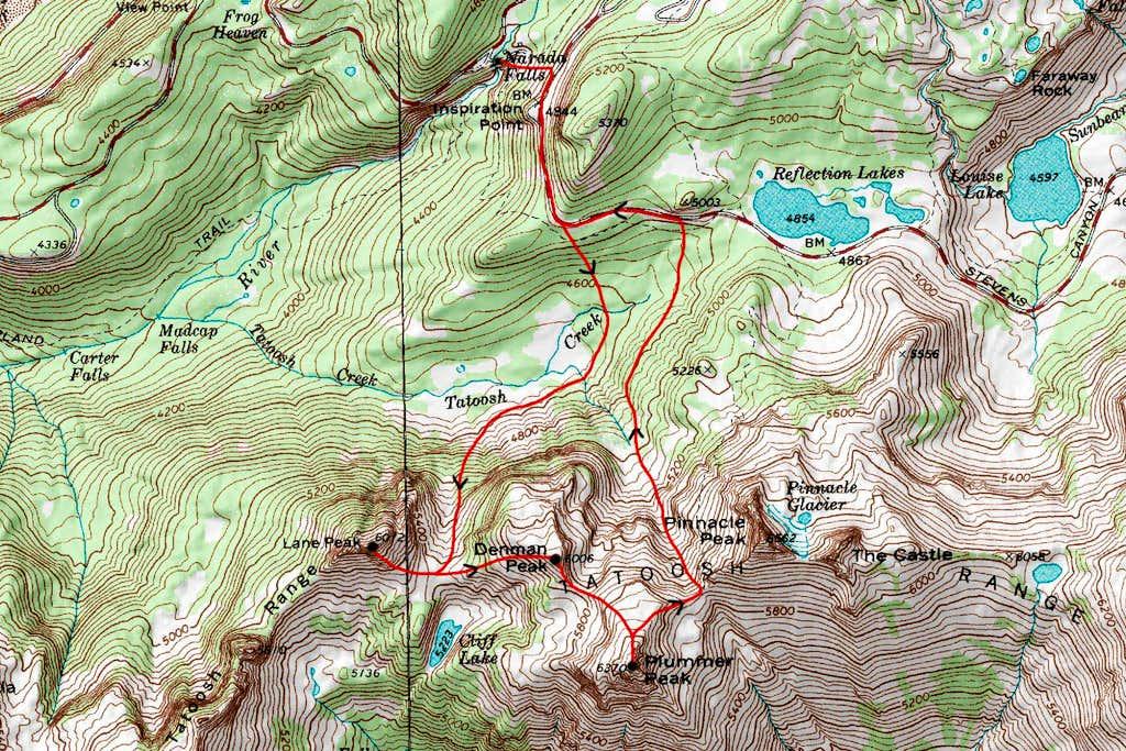 Lane Peak/Plummer Peak topo