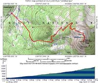 Our winter ascent route is...