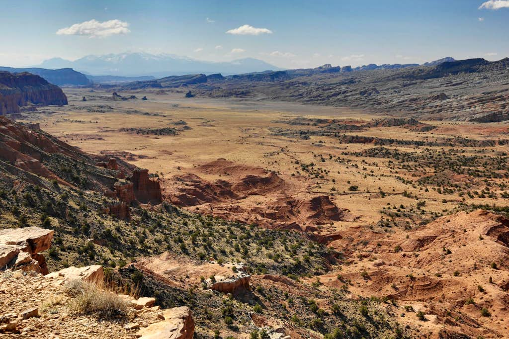 View from Upper South Desert Overlook in Capitol Reef