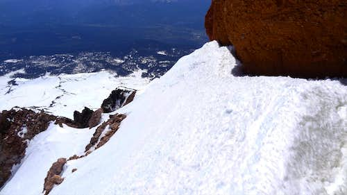 Snowy slope on Casaval Ridge, Mt Shasta