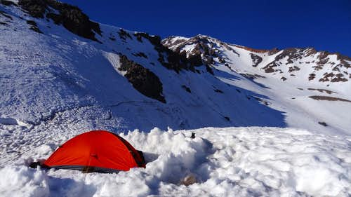 A camp on Casaval Ridge, Mt Shasta